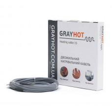 Нагревательный кабель GrayHot (Украина) 15 Вт