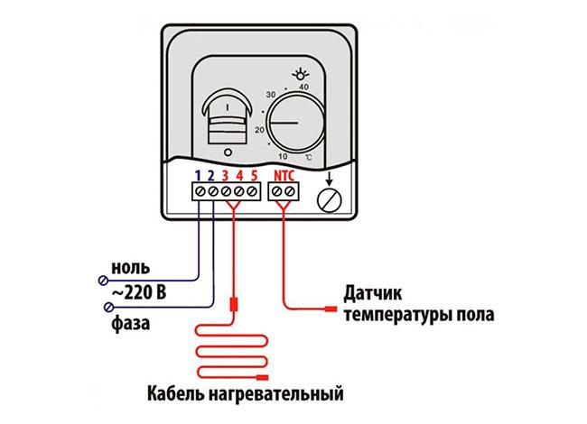 Підключення терморегулятора